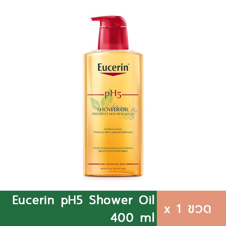 Eucerin pH5 Shower Oil ครีมอาบน้ำ สำหรับผิวแห้งมาก 400ml
