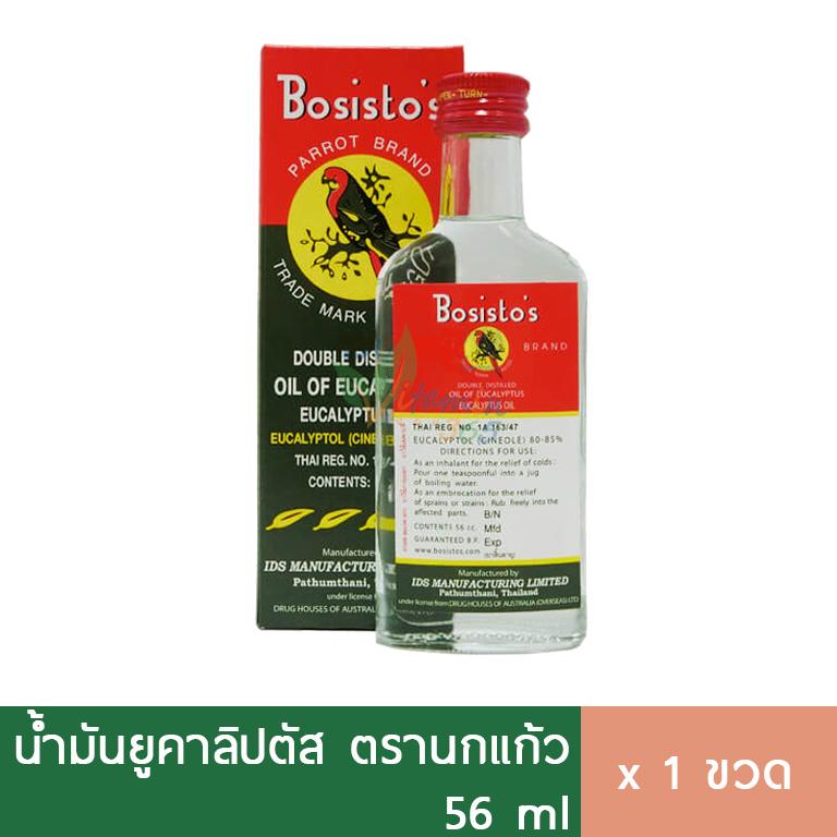 Bosisto นกแก้ว น้ำมันยูคาลิปตัส 56ml